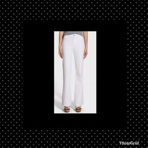 J Brand Tailored Flare High Rise White Jeans 28